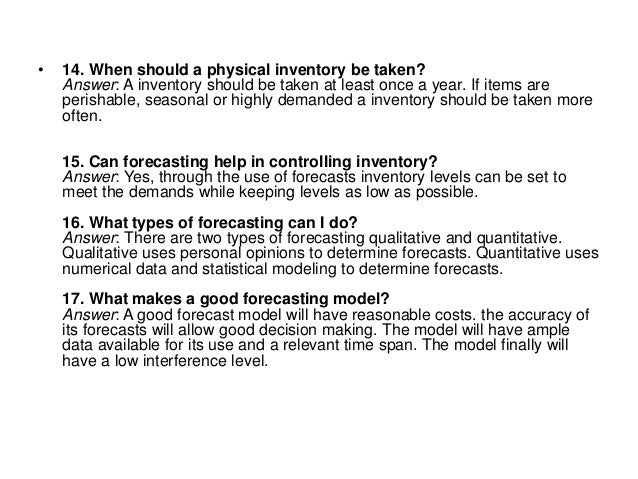 inventory management questions and answers pdf