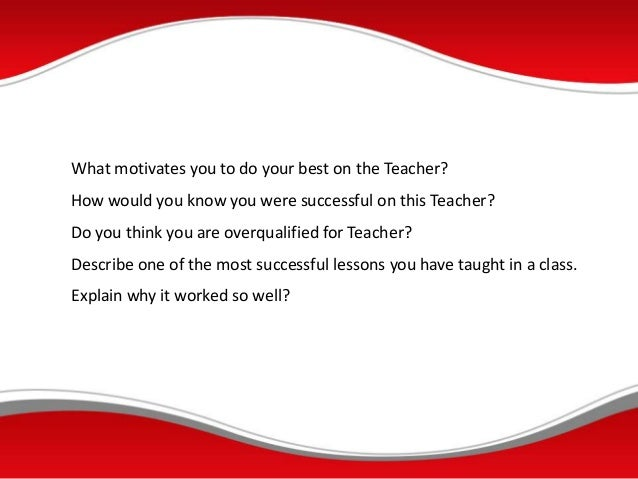 elementary teaching interview questions and answers