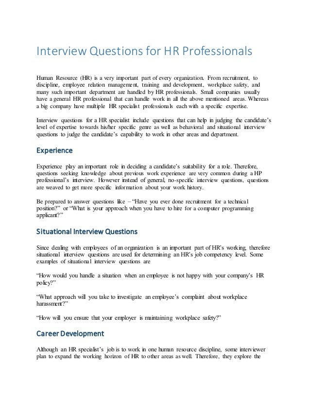 HRM interview questions