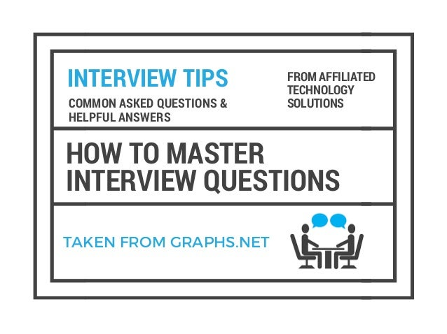 INTERVIEW TIPS HOW TO MASTER INTERVIEW QUESTIONS COMMON ASKED QUESTIONS U0026  HELPFUL ANSWERS FROM AFFILIATED TECHNOLOGY ...