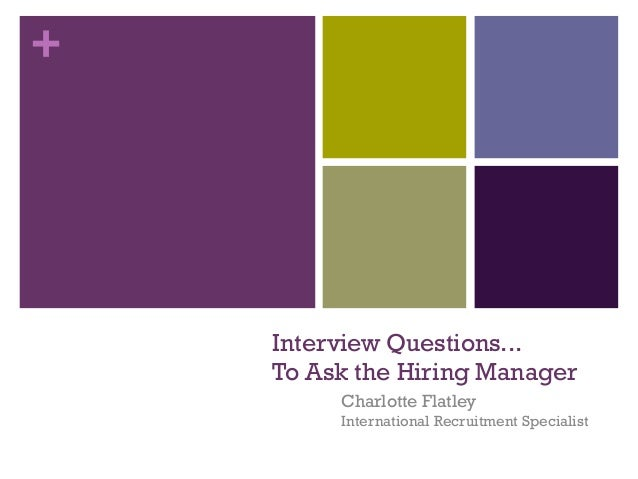questions to ask hiring manager