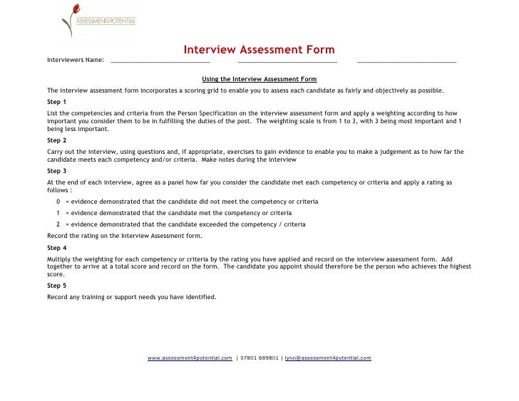 Interview Record Form