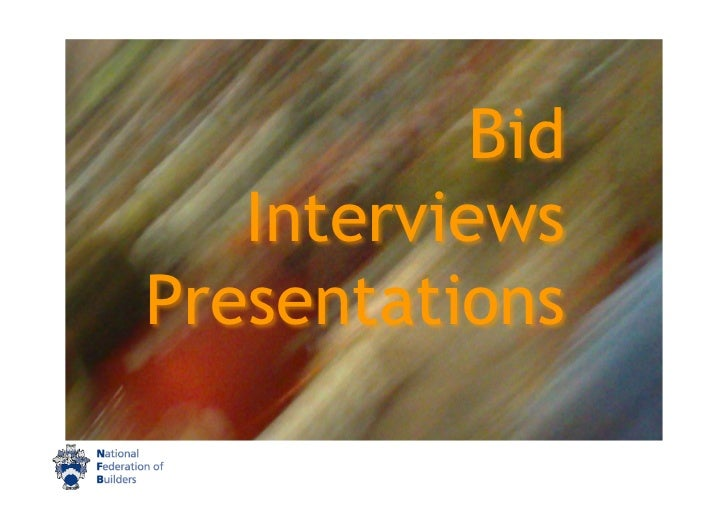 bid presentation workshop slides, Presentation templates
