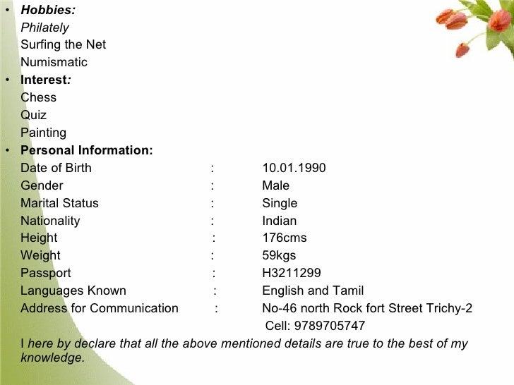 35. sample resume for air hostess fresher ...