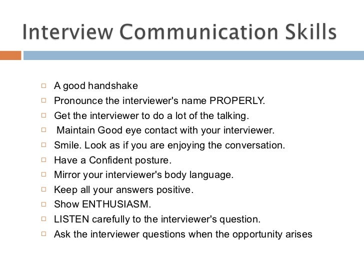 Essay on interviewing skills