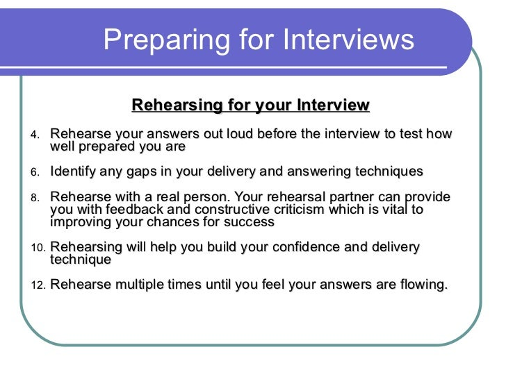 preparing for interviews - How To Prepare For An Interview Preparing For An Interview
