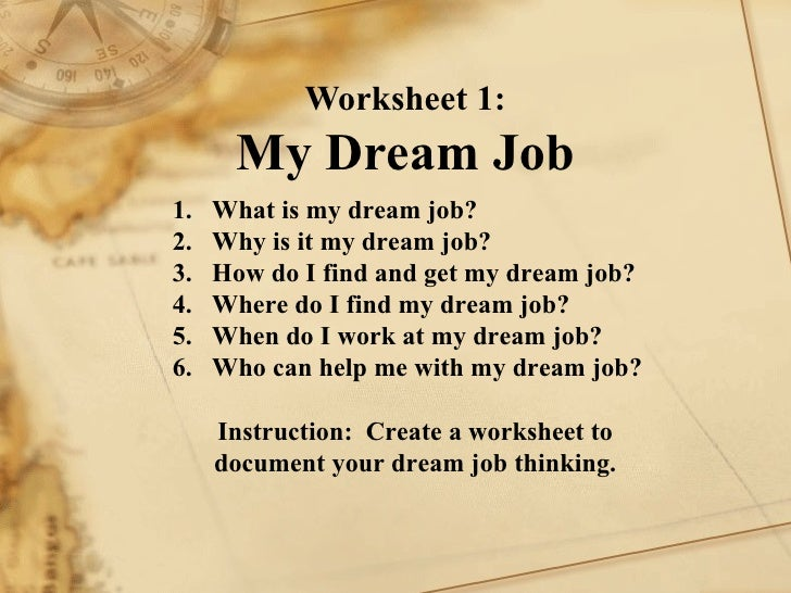 essay strategies to achieve dream job Your dream won't just happen you need to sit down, on a regular basis, and plan  out your strategy for achieving the dream think through all of.