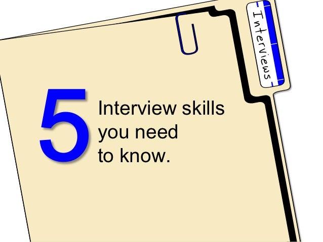 Interview skillsyou needto know.