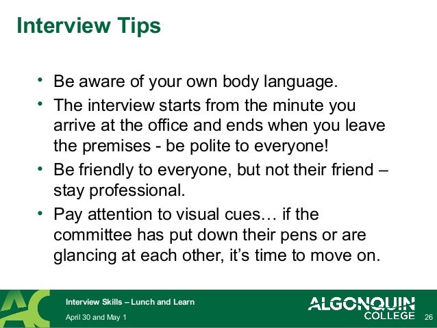 26 be aware of your own body language - Preparing For A Job Interview Body Language