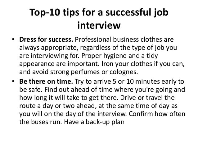 tips for a successful job interview