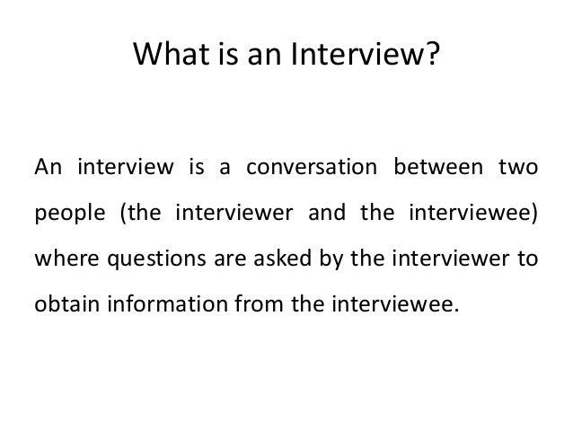 Interviewing Skills PowerPoint