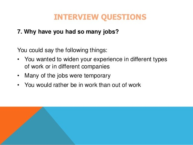INTERVIEW QUESTIONS 8.