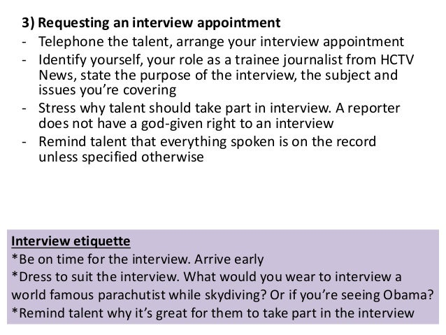 12 3 requesting an interview