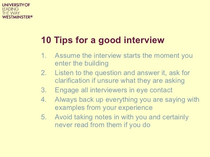 good interview techniques - How To Have A Good Interview Tips For A Good Interview