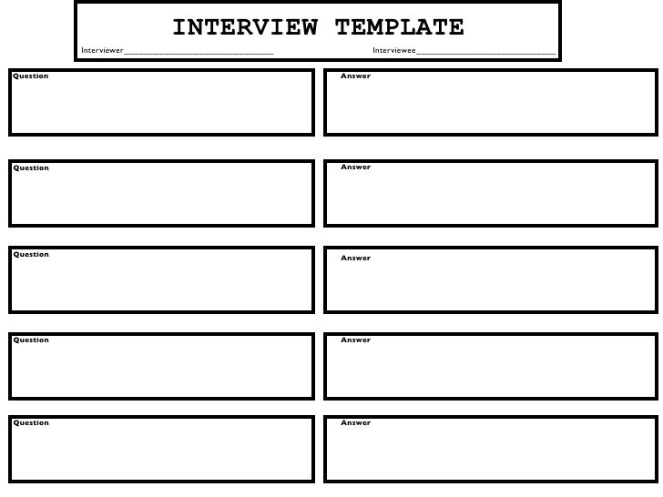 INTERVIEW TEMPLATE            Interviewer______________________________            Interviewee____________________________...