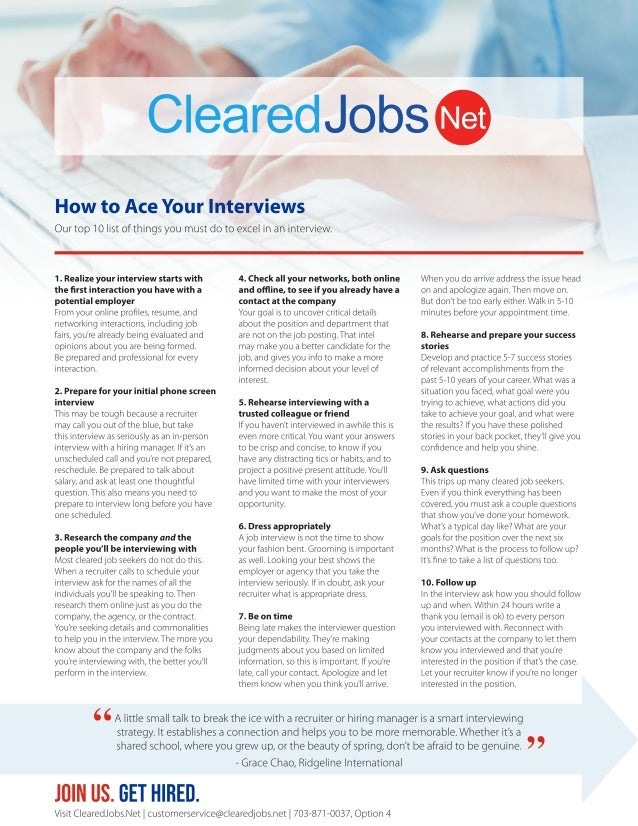 How to Ace Your Interviews
