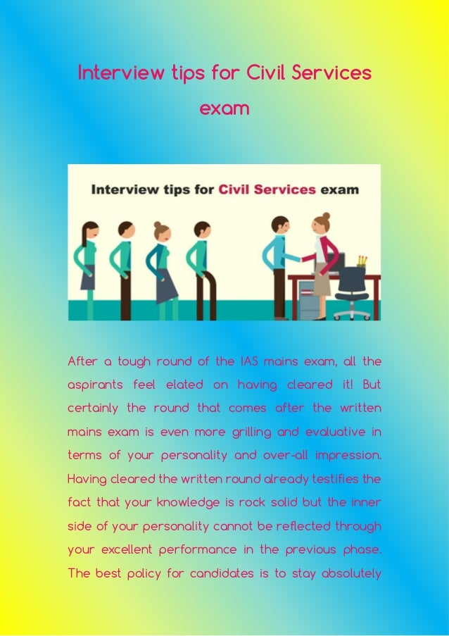 interview tips for civil services exam after a tough round of the ias mains exam