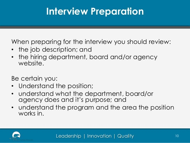 interview preparation - How To Prepare For An Interview Preparing For An Interview