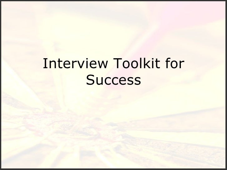 Interview Toolkit for Success