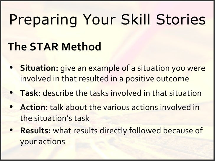 22 preparing your skill stories the star method