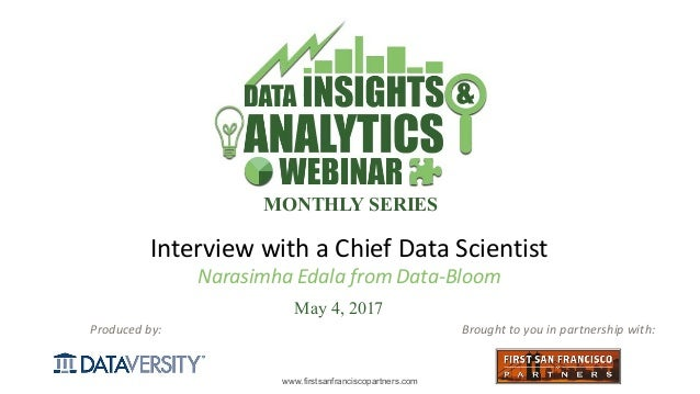 DI&A Slides: The Role of a Data Scientist (Interview with a CDS)