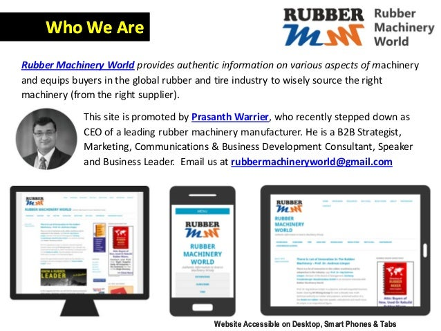 This site is promoted by Prasanth Warrier, who recently stepped down as CEO of a leading rubber machinery manufacturer. He...