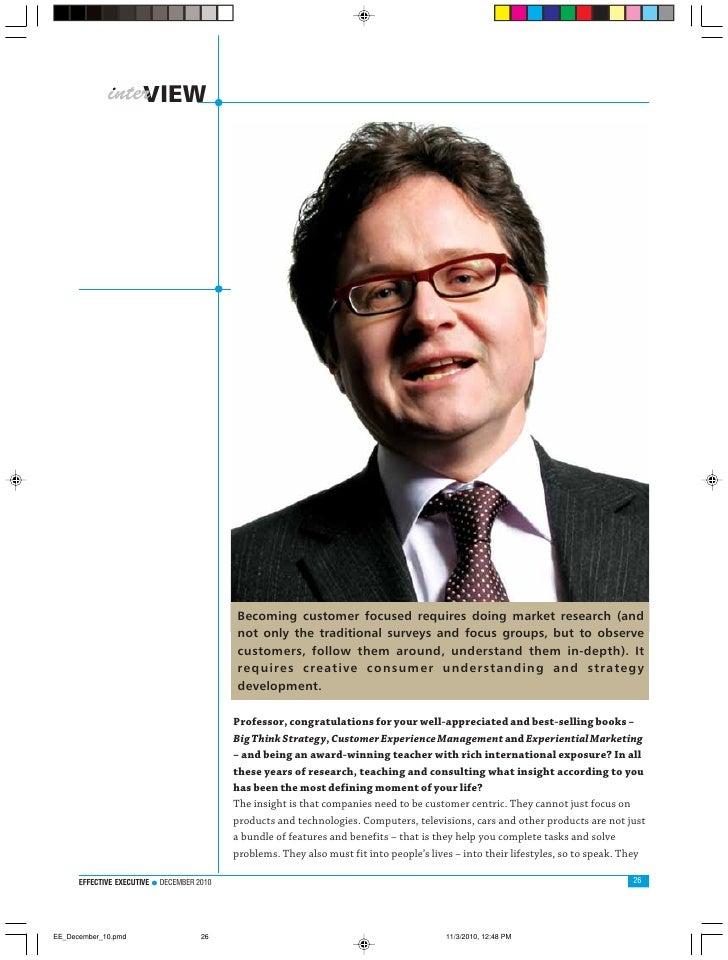 Interview With Bernd Schmitt, Robert D.Calkins Professor of International Business at Columbia Business School, New York; ...