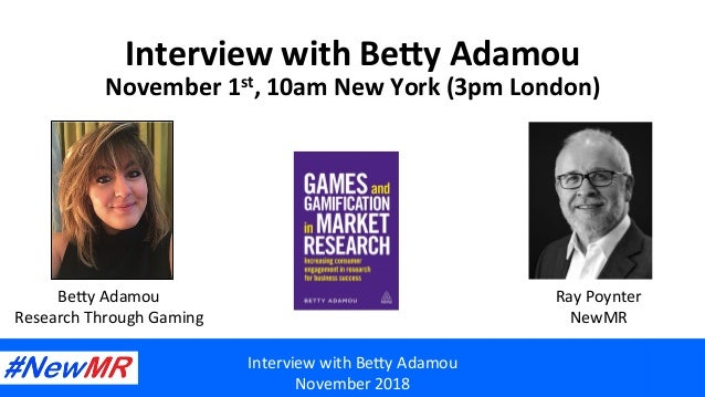 Interview	with	Be,y	Adamou	 November	2018	 Interview	with	Be,y	Adamou	 November	1st,	10am	New	York	(3pm	London)		 Be,y	Ada...