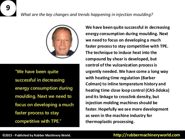©2015 - Published by Rubber Machinery World. http://rubbermachineryworld.com What are the key changes and trends happening...