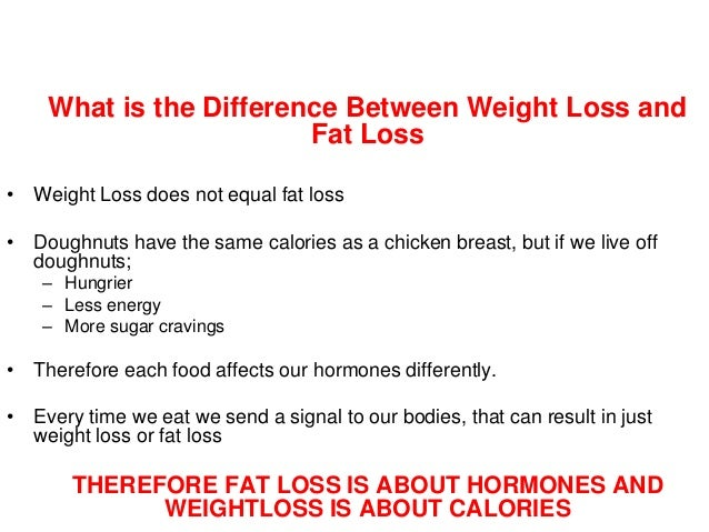 Difference Between Fat Loss And Weight
