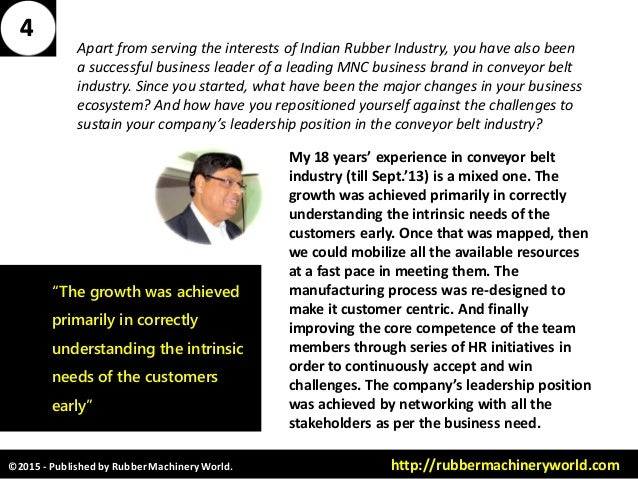©2015 - Published by RubberMachineryWorld. http://rubbermachineryworld.com Apart from serving the interests of Indian Rubb...