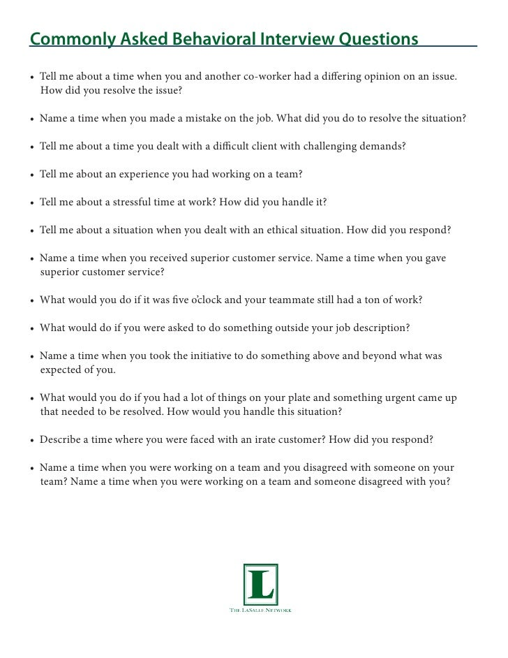 Exceptional 3. Commonly Asked Behavioral Interview Questionsu2022 Tell Me About A Time When  You ...