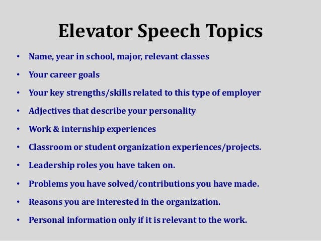 informative speech topics college What are some ideas for an informative speech that the informative speech is an exercise in presenting many possible ideas for informative speech topics.