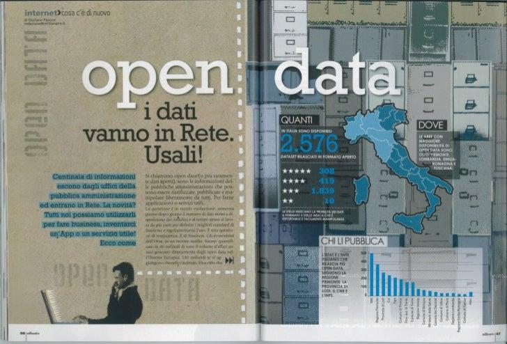 Open Data - I dati vanno in Rete, usali!