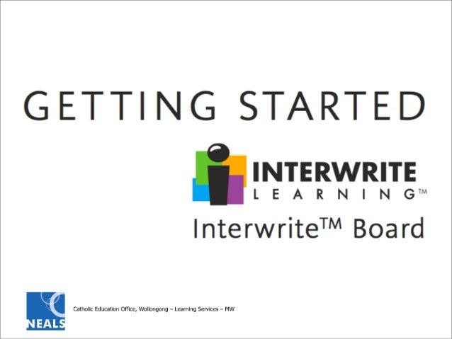 Interwrite Whiteboard - Getting Started