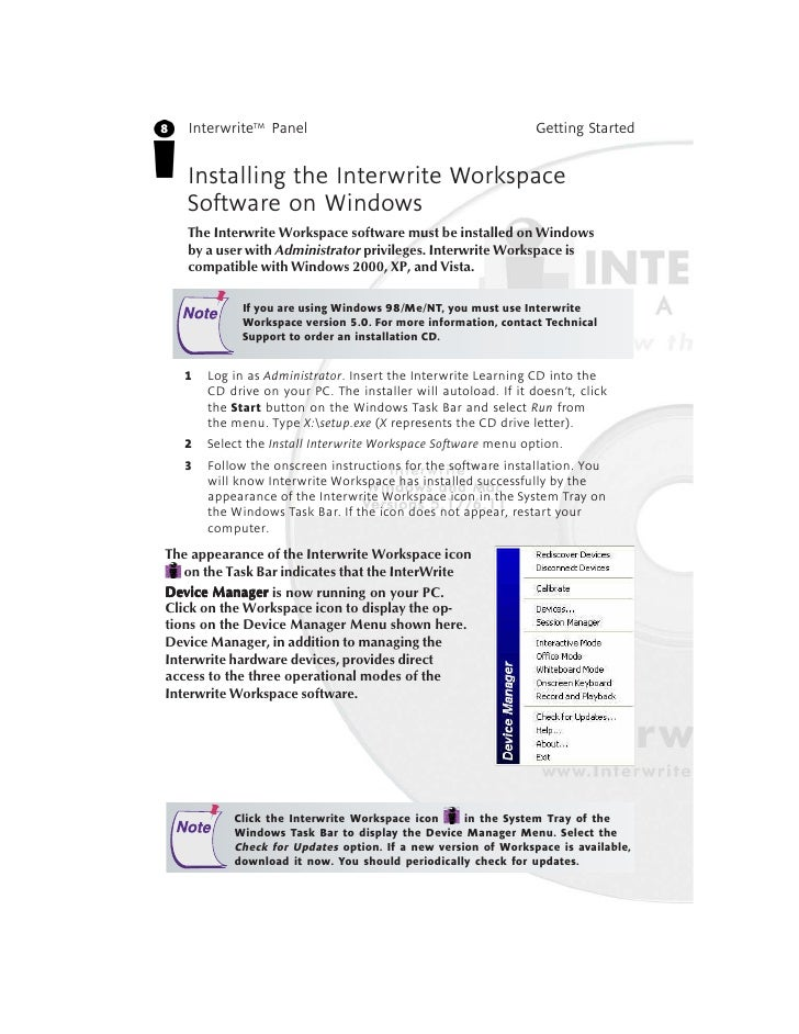 interwrite workspace 8