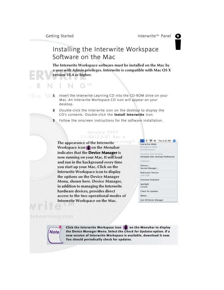 Interwrite workspace