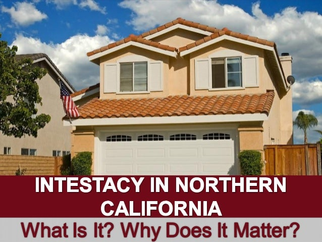 l V _ 1  mi ; '  ' INTESTACY IN NORTHEIkN CALIFORNIA What Is It?  Why Does It Matter?