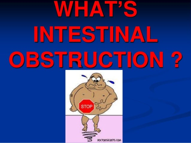 WHAT'S INTESTINAL OBSTRUCTION ?