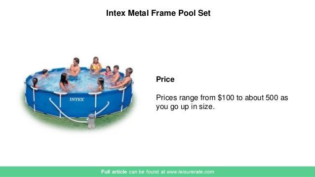 Intex Metal Frame Pool Set 2017 Review