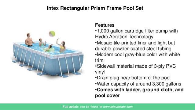 Awesome Intex Rectangular Prism Frame Pool ...