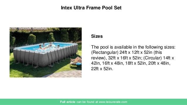 Intex Ultra Frame Pool 2017 Review