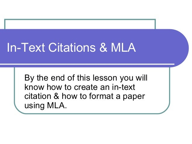 how to do in text citations mla