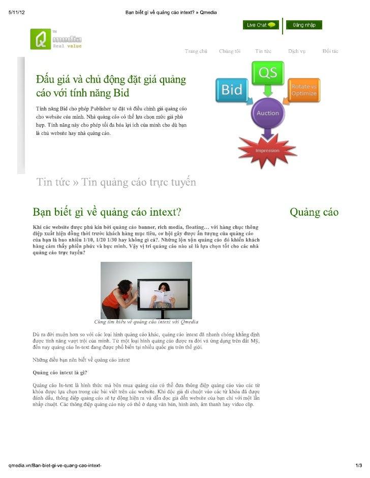 Quảng cáo intext, cùng khám phá nhé » qmedia