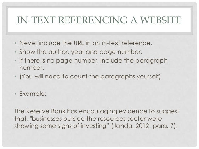 Intext referencing and bibliographies 2014 terrace