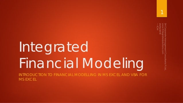 Integrated Financial Modeling - MS Excel and VBA for MS Excel
