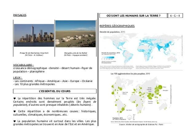 Intégrale fiches géographie 6e Slide 2