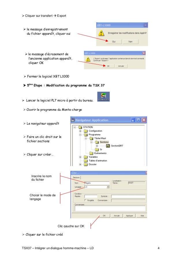 Cliquer sur transfert   Export       le message d'enregistrement    du fichier apparaît, cliquer oui         le message d'...