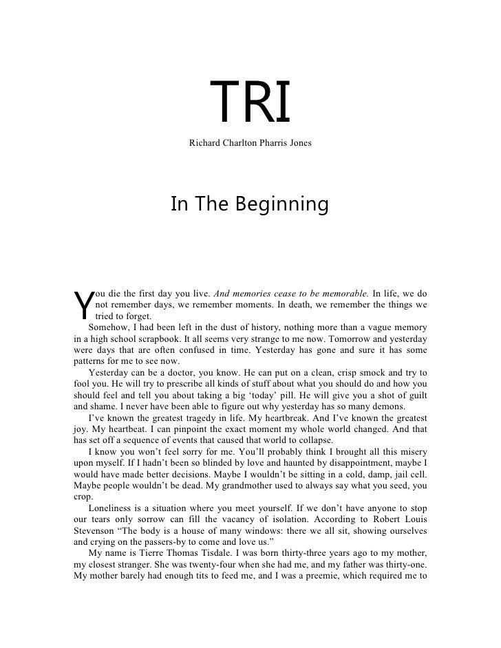 TRI                              Richard Charlton Pharris Jones                             In The Beginning          ou d...