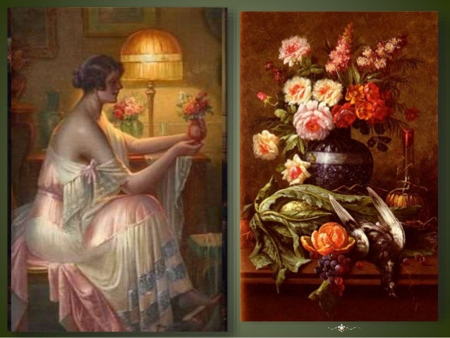 In the Boudoir (Still - Life with Flowers and Fruits by Max Albert Carlier ). Slide 3
